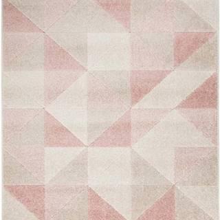Růžový koberec Flair Rugs Urban Triangle, 100 x 150 cm