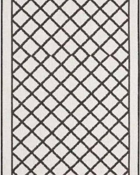 Bougari Černo-krémový venkovní koberec Bougari Sydney, 80 x 350 cm