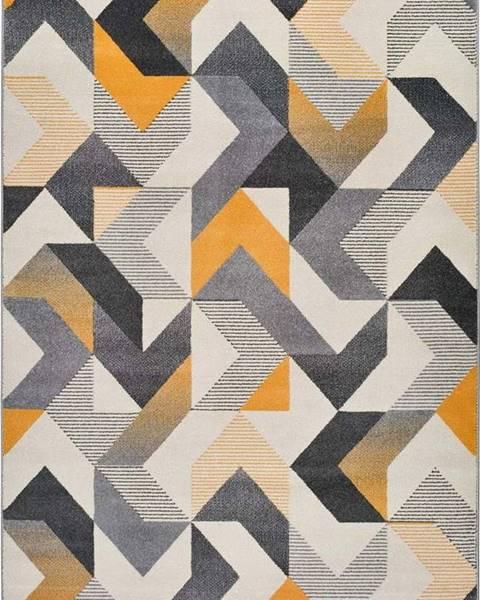 Universal Oranžovo-šedý koberec Universal Gladys Abstract, 60x120cm