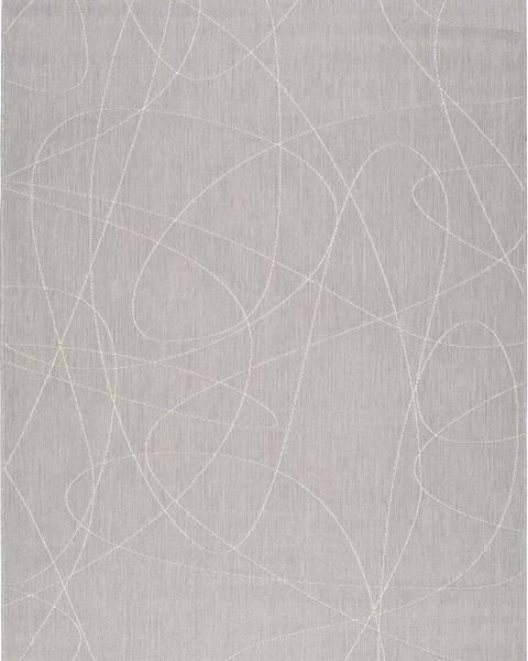 Universal Šedý venkovní koberec Universal Hibis Line, 135 x 190 cm