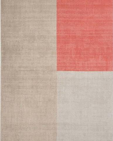 Béžovo-růžový koberec Asiatic Carpets Blox, 120 x 170 cm