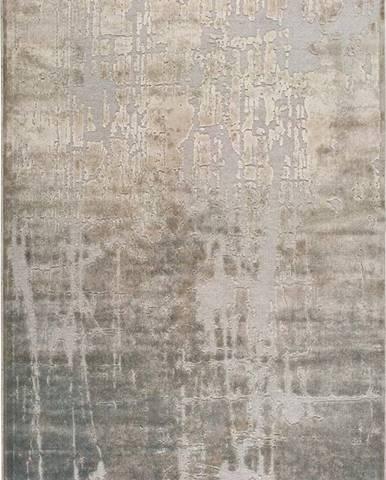 Béžový koberec z viskózy Universal Margot Azul, 60 x 110 cm