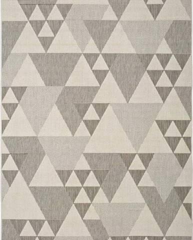 Béžový venkovní koberec Universal Clhoe Triangles, 140 x 200 cm