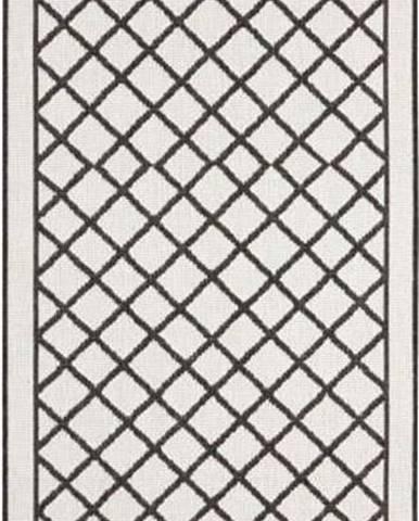 Černo-krémový venkovní koberec Bougari Sydney, 80 x 350 cm