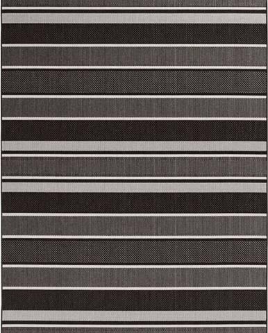 Černý venkovní koberec Bougari Strap, 160x230cm