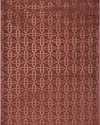 Červený koberec z viskózy Universal Margot Copper, 160 x 230 cm