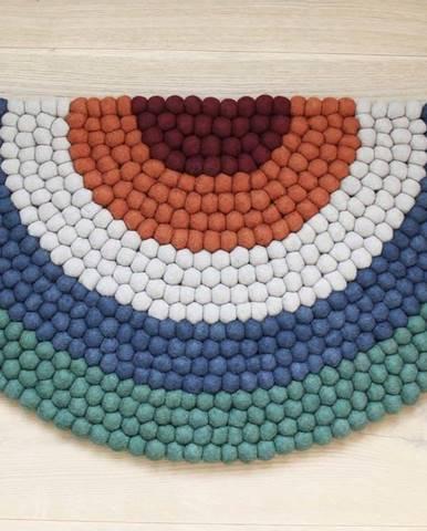 Dětský kuličkový vlněný koberec Wooldot Ball Rugs Rainbow Green