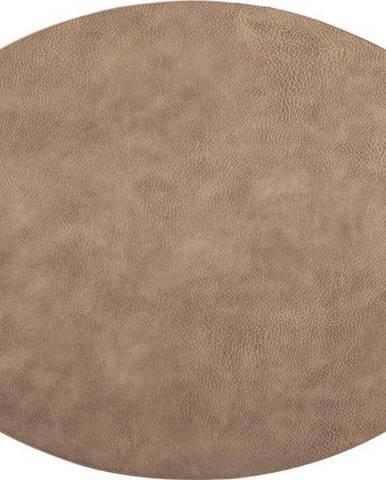 Hnědé prostírání z imitace kůže ZicZac Troja,33x45cm