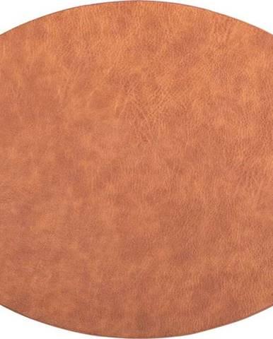 Oranžovohnědé prostírání z imitace kůže ZicZac Troja,33x45cm
