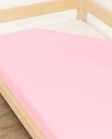 Růžové prostěradlo z bavlny Benlemi Jersey,90x160cm