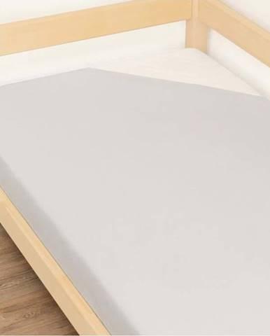 Šedé prostěradlo z bavlny Benlemi Jersey,90x180cm