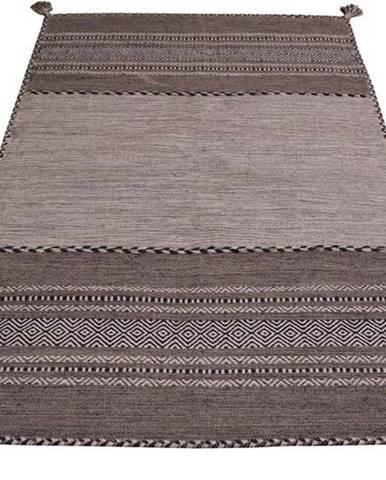 Šedo-béžový bavlněný koberec Webtappeti Antique Kilim, 160 x 230 cm