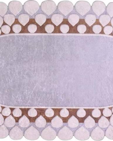 Šedý koberec Vitaus Zinno Oval Kahve, 60 x 100 cm