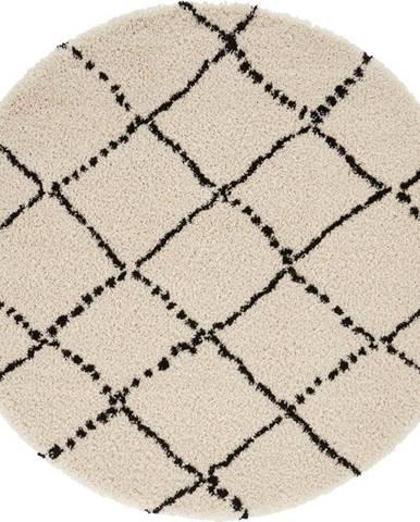 Béžovo-černý koberec Mint Rugs Hash, ⌀ 120 cm