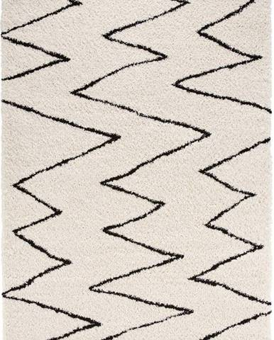 Béžovo-černý koberec Mint Rugs Jara, 80 x 150 cm