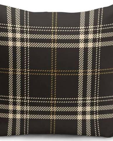 Černobéžový dekorativní povlak na polštář Minimalist Cushion Covers Flannel,45x45cm