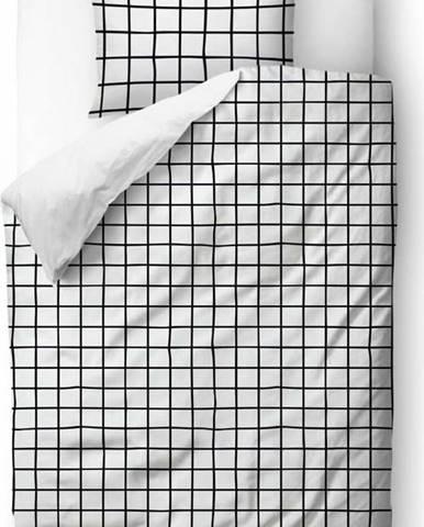 Povlečení z bavlněného saténu Butter Kings Simple Checkers, 135 x 200 cm