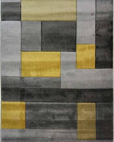 Šedo-žlutý koberec Flair Rugs Cosmos, 80x150cm