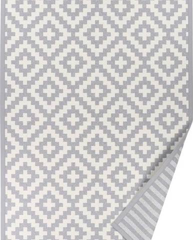 Světle šedý oboustranný koberec Narma Viki Silver, 80 x 250 cm