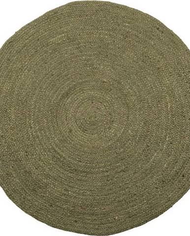 Zelený jutový koberec WOOOD Ross,ø150cm