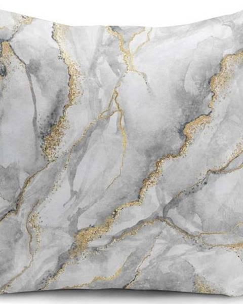 Minimalist Cushion Covers Povlak na polštář Minimalist Cushion Covers Marble With Hint Of Gold, 45 x 45 cm