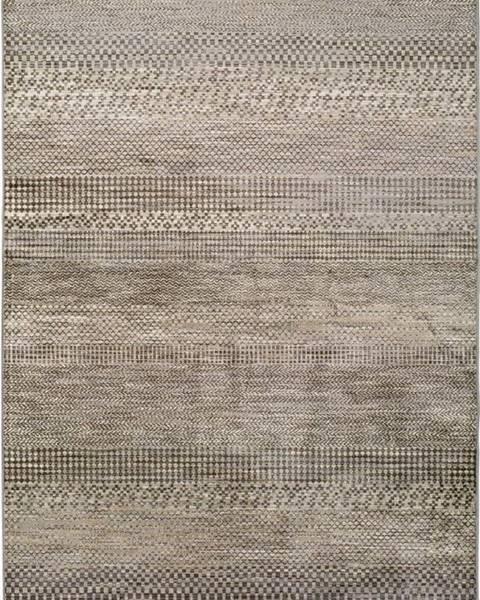 Universal Šedý koberec z viskózy Universal Belga Beigriss, 100 x 140 cm