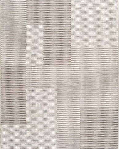 Béžový venkovní koberec Universal Cork Squares, 115 x 170 cm
