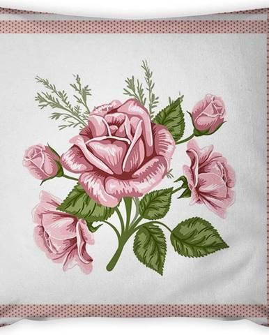 Povlak na polštář Vitaus Rustic Rosa, 43 x 43 cm