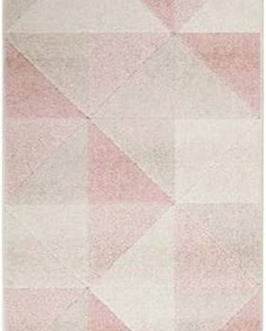 Růžový koberec Flair Rugs Urban Triangle, 60 x 220 cm