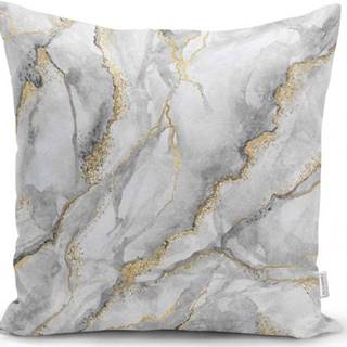 Povlak na polštář Minimalist Cushion Covers Marble With Hint Of Gold, 45 x 45 cm