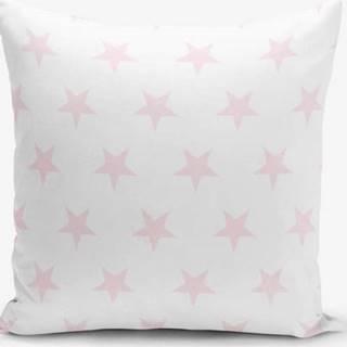 Povlak na polštář s příměsí bavlny Minimalist Cushion Covers Powder Colour Star Modern, 45 x 45 cm