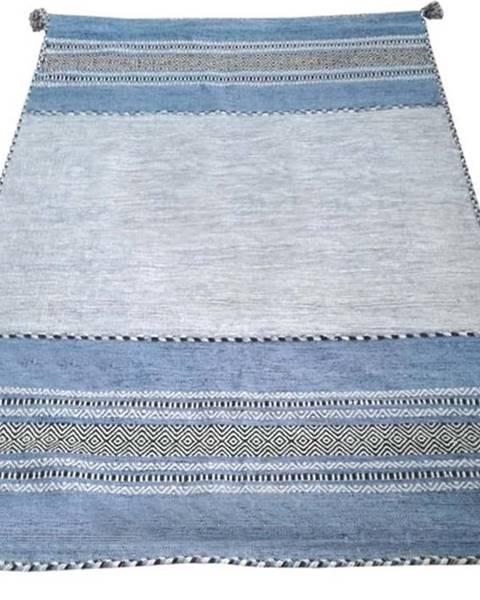 Webtappeti Modro-šedý bavlněný koberec Webtappeti Antique Kilim, 60 x 90 cm