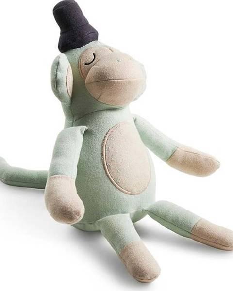 Södahl Zelený plyšák opice Södahl, výška50cm
