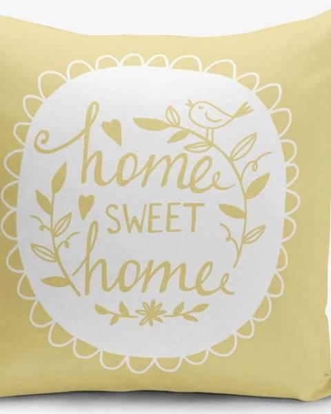 Minimalist Cushion Covers Žlutý povlak na polštář Minimalist Cushion Covers Home Sweet Home, 45 x 45 cm
