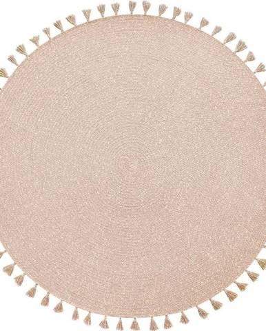 Světle růžový ručně vyrobený koberec Nattiot Heloise,⌀140cm