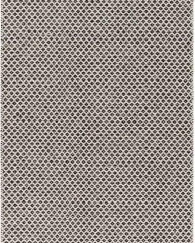 Krémovo-černý běhoun vhodný do exteriéru Narma Diby, 70x300cm