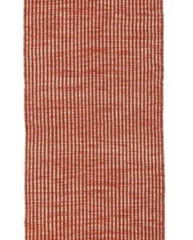 Oranžový vlněný běhoun Flair Rugs Anu, 60 x 200 cm