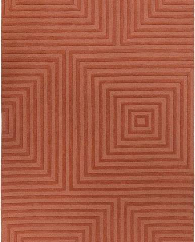 Oranžový vlněný koberec Flair Rugs Estela, 160 x 230 cm