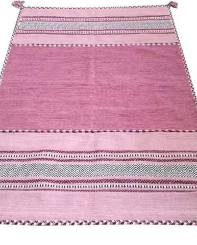 Růžový bavlněný koberec Webtappeti Antique Kilim, 60 x 90 cm