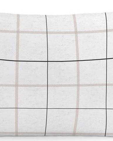 Sada 2bavlněných povlaků napolštář Blanc Tartan, 50x75cm