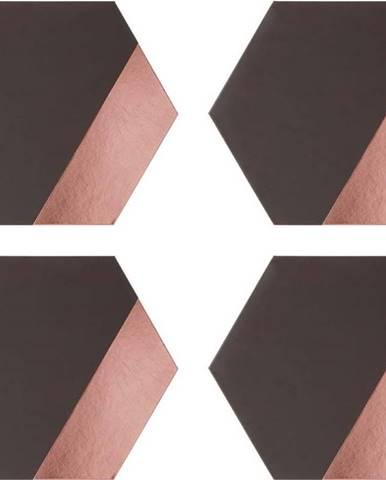 Sada 4 koženkových prostírání Premier Housewares Geome, 30 x 26