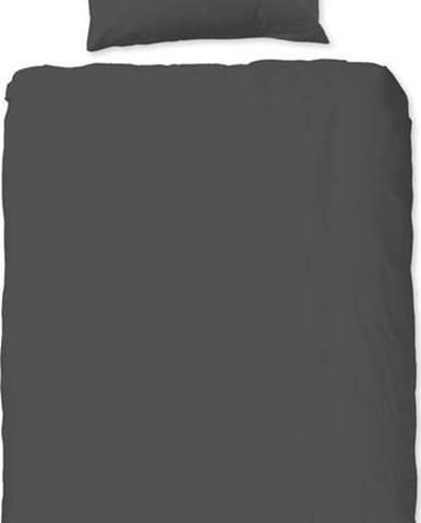 Šedé bavlněné povlečení na jednolůžko Good Morning Universal, 140 x 220 cm