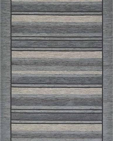 Šedý běhoun Floorita Velour, 55 x 190 cm