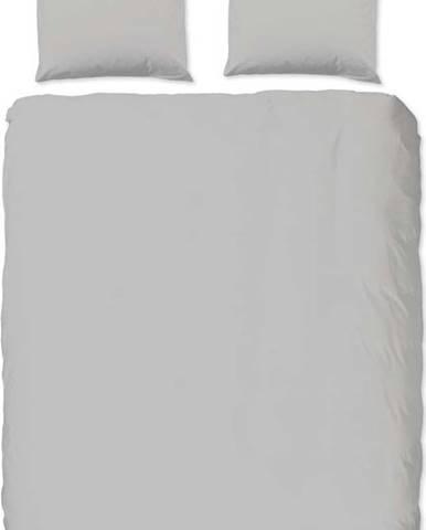 Světle šedé bavlněné povlečení na dvoulůžko Good Morning Universal, 200 x 220 cm
