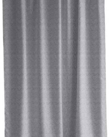Světle šedý sprchový závěs Södahl Leo Geometric, 180x200cm