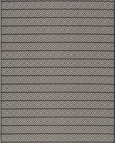 Tmavě šedý venkovní koberec Universal Tokio Stripe, 135 x 190 cm