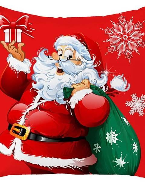 Mike & Co. NEW YORK Červený vánoční povlak na polštář Mike&Co.NEWYORK Honey Christmas Santa Claus, 45 x 45 cm