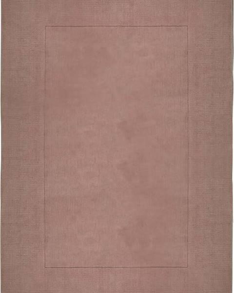 Flair Rugs Růžový vlněný koberec Flair Rugs Siena, 160 x 230 cm