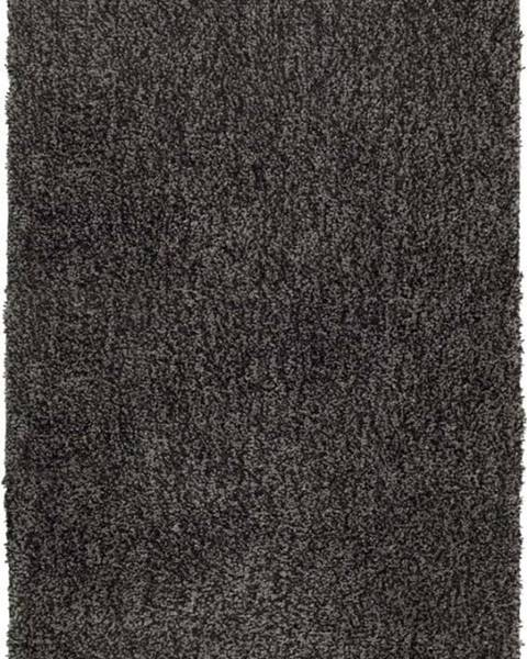 WENKO Tmavě šedá koupelnová předložka Wenko Mélange, 90x60cm