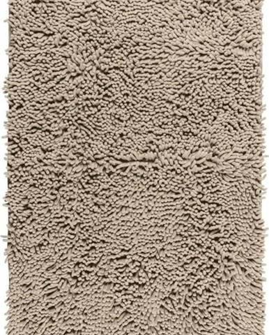 Béžová koupelnová předložka Wenko Chenille, 80x50cm